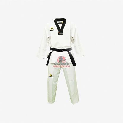 Picture of Võ Phục Taekwondo Hiệu Kwon Vải Kaki Sọc Vai Trơn