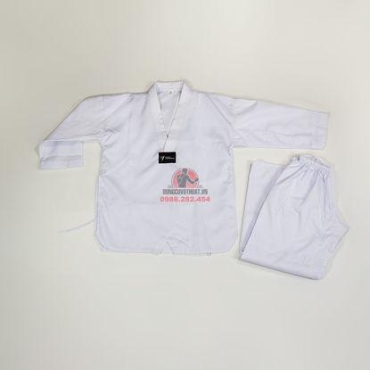 Picture of Võ Phục Taekwondo Vải Kaki Sọc Thông Dụng