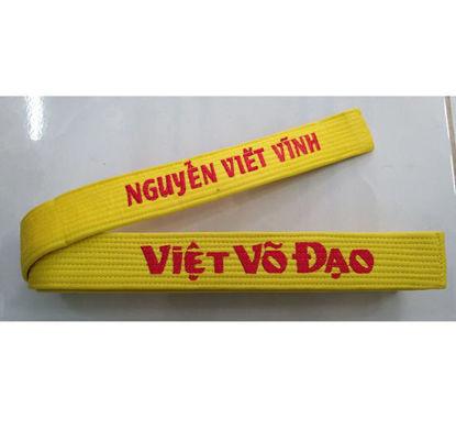 Picture of Đai Thêu Vovinam Vải Kaki Thêu Tên