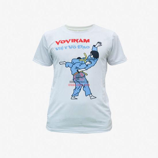 Picture of Áo Thun Vovinam Trắng Vải Thun Lạnh Dày