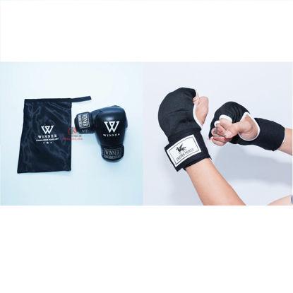 Picture of COMBO - Găng Boxing Winner Thi Đấu + Băng Xỏ Tay Unicorn Power