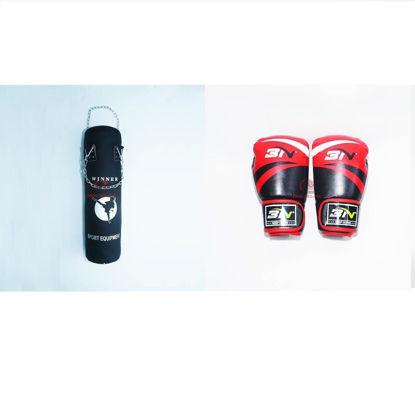 Picture of COMBO - Bao Cát Hoàn Thiện Dây Xích Winner + Găng Boxing BN