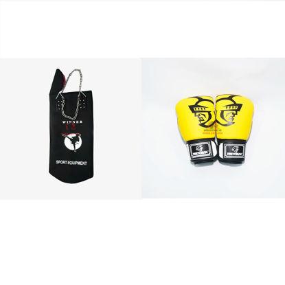 Picture of COMBO - Vỏ Bao Cát Dây Xích Winner + Găng Boxing Pretorian