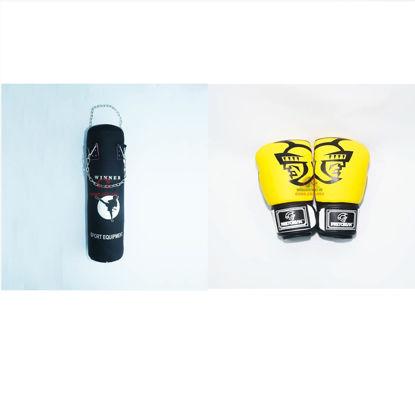 Picture of COMBO - Bao Cát Hoàn Thiện Dây Xích Winner + Găng Boxing Pretorian